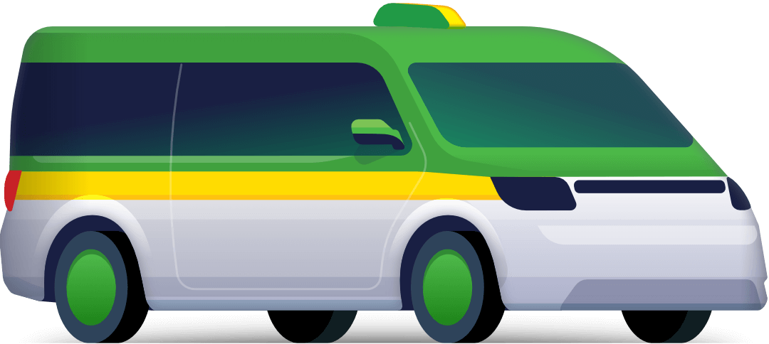 Taxi-minivan for 8 places